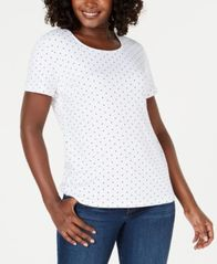 Image of Karen Scott Scoop-Neck T-Shirt, Created for Macy's