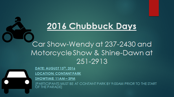 Dave Orthel - Motorcycle Show: Chubbuck Days Celebration