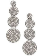 Image of INC International Concepts Silver-Tone Pavé Disc Drop Earrings, Created for Macy's