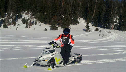 Ski-doo X Team Racer- My Husband Rick Haglund