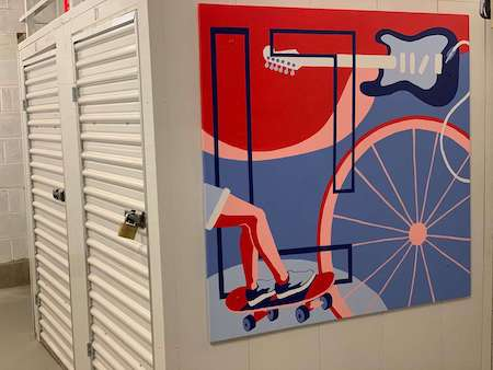 Hell's Kitchen storage facility wall mural