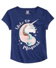 Image of Max & Olivia Big Girls Graphic-Print Pajama Top, Created for Macy's