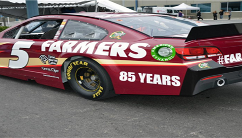 No.5 Farmers® Insurance 85th Anniversary Race car Paint Scheme 2013!