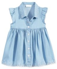 Image of First Impressions Flutter-Sleeve Denim Dress, Baby Girls (0-24 months), Created for Macy's