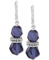 Image of Anne Klein Faceted Bead & Crystal Drop Earrings, Created for Macy's