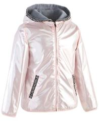 Image of Calvin Klein Big Girls Metallic Logo Jacket