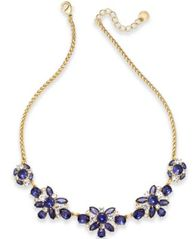 Image of Charter Club Crystal & Stone Collar Necklace, Created for Macy's