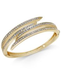 Image of Charter Club Gold-Tone Crystal Multi-Row Bracelet, Created for Macy's