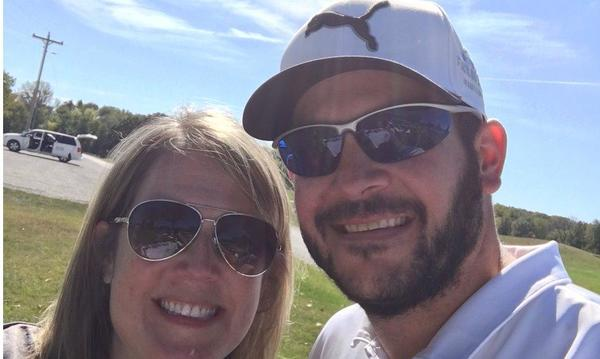 My sister and I at 2017 Farmers® Open by Adam M. Tallman Agency