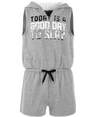 Image of Ideology Big Girls Graphic-Print Hooded Romper, Created for Macy's