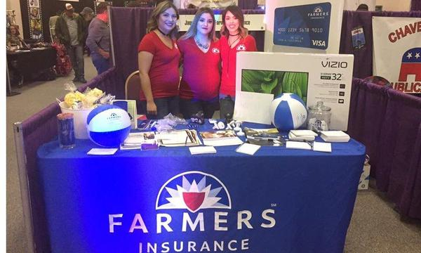 Ana Jaquez Agency at their table at the Civic Center BabyBoomer Expo