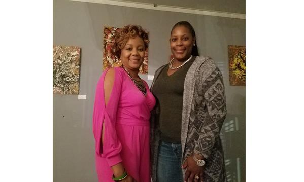 Agent Leah Wiggins and Angel, CSSR at Art Exhibition