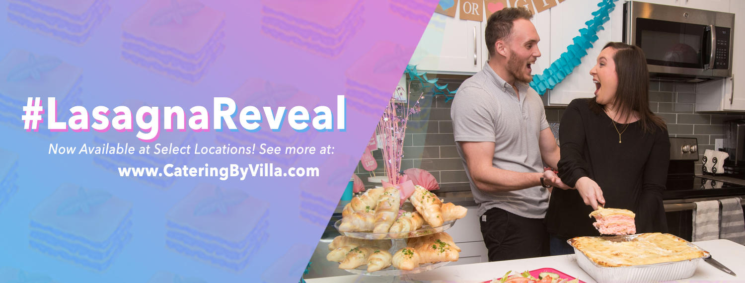 Villa Italian Kitchen's Gender Reveal Lasagna