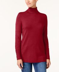 Image of JM Collection Rivet-Detail Turtleneck Sweater, Created for Macy's
