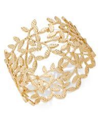 Image of I.N.C. Gold-Tone Leaf Stretch Bracelet, Created for Macy's