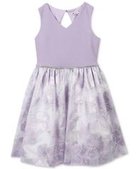 Image of Speechless Floral Embossed Dress, Big Girls