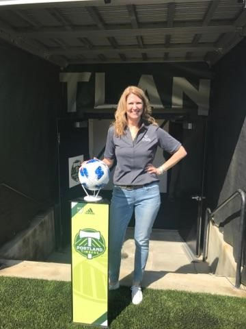 Jolene Weber - Close to the Action With the Portland Timbers