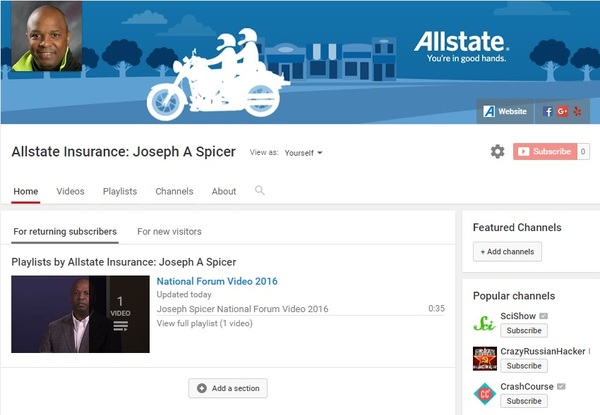 Joseph A Spicer - Joseph Spicer YouTube Channel
