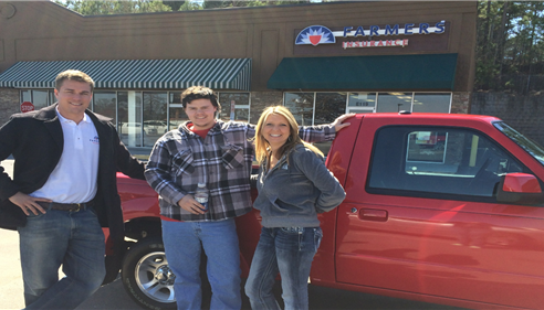 Helping our young drivers get insured! Congrats on your new truck Michael.