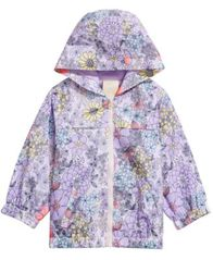 Image of First Impressions Baby Girls Floral-Print Hooded Windbreaker Jacket, Created for Macy's