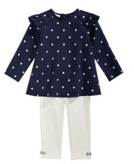 Image of First Impressions Baby Girls 2-Pc. Dot-Print Tunic & Leggings Set, Created for Macy's