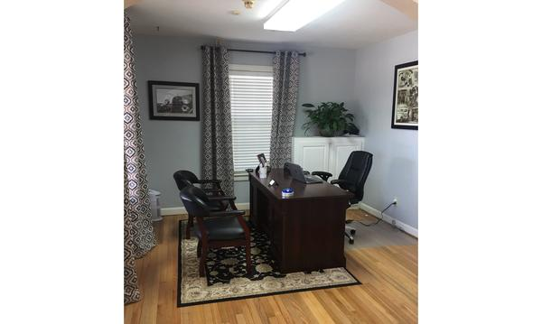 Office with chairs and a desk
