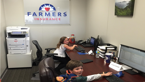 Big success on bring your kid to work day!