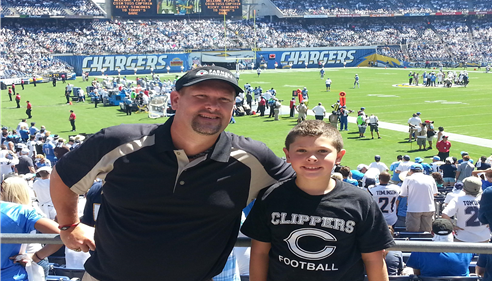 Sept 13, 2015 at the Chargers vs Lions game in San Diego.