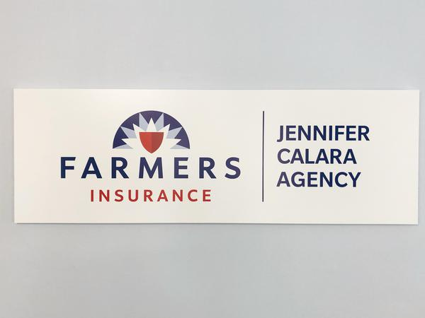 Interior agency sign