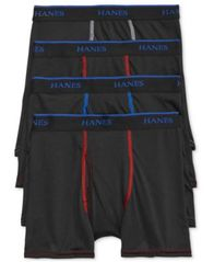 Image of Hanes X-Temp Performance 3-Pk.Boxer Briefs + Bonus Pair, Little Boys (2-7) & Big Boys (8-20)