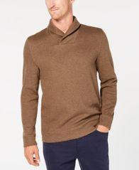 Image of Tasso Elba Men's Shawl-Collar Pullover Sweater, Created for Macy's