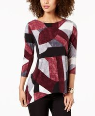 Image of Alfani Printed High-Low Tunic, Created for Macy's