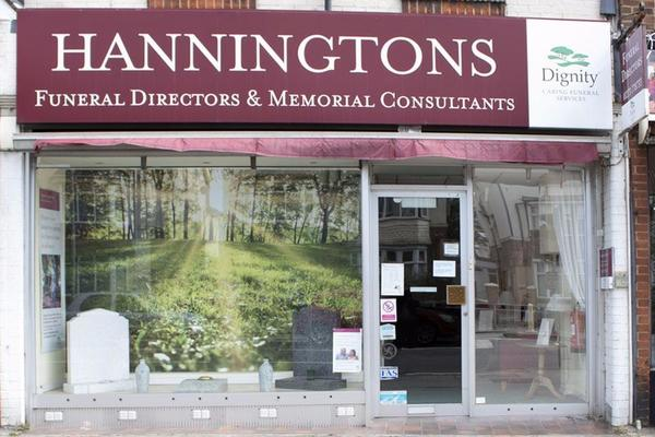 Hanningtons Funeral Directors in Hove, East Sussex.