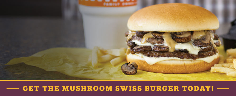 Whataburger Mushroom Swiss Burger