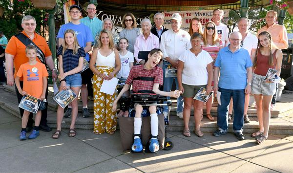 Group posing outside at Manitou Days.
