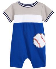 Image of First Impressions Baseball Romper, Baby Boys, Created for Macy's