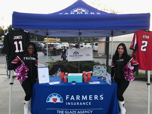 Farmers insurance booth at Parkview High School football game