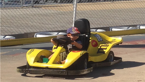 My Son racing around the track in Wildwood, NJ!