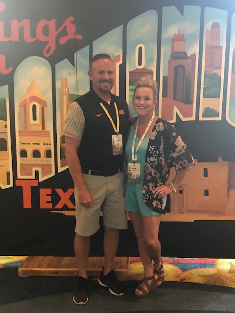 My wife, Mindee, and I at Toppers Club 2019 in San Antonio, TX.
