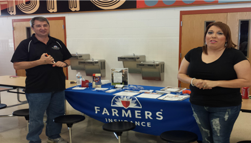 Doug and Ashley at the Hutto YMCA Healthy Kids Day event on April 25, 2015.