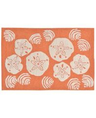 Image of Liora Manne Front Porch Indoor/Outdoor Shell Toss Coral 2' x 3' Area Rug
