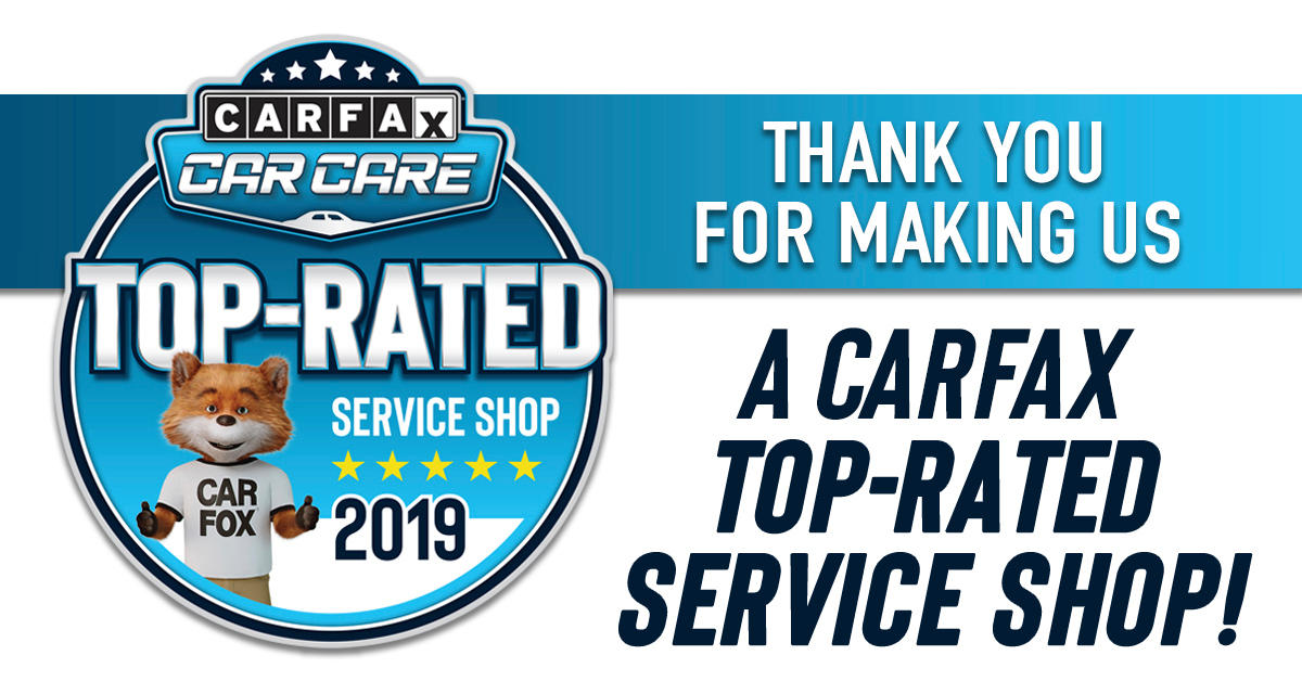CARFAX Top-Rated Service Shop 2019