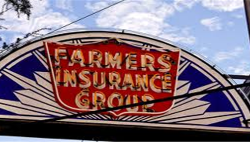 An old Farmers Insurance logo