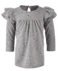 Image of First Impressions Baby Girls Confetti-Print Ruffle Dress, Created for Macy's