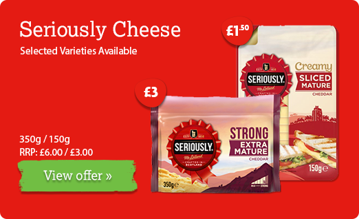 Seriously Strong Cheese offer available until 21st January