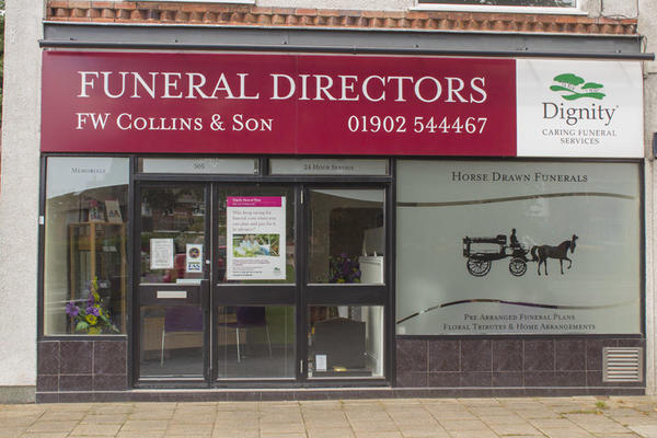 F W Collins & Son Funeral Directors in Wolverhampton
