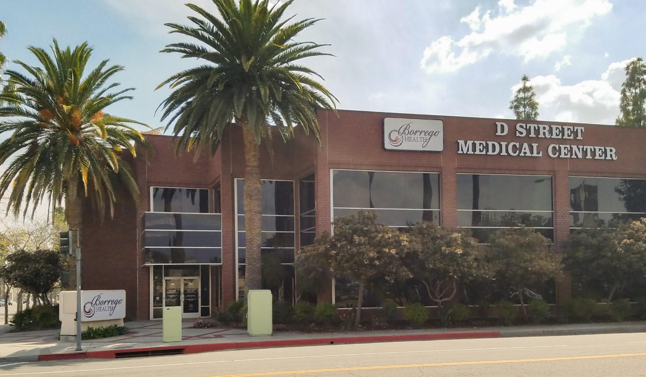 Street view of Borrego Health's D Street Medical Center.