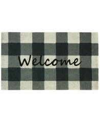 "Image of Bacova Farmhouse Check 18"" x 30"" Doormat"