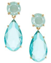 Image of kate spade new york Gold-Tone Colored Stone Drop Earrings