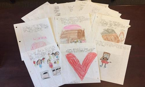 Children's thank you notes